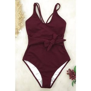 Cupshe burgundy one piece